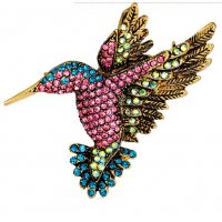 SB137 - Color Rhinestone Animal Brooch
