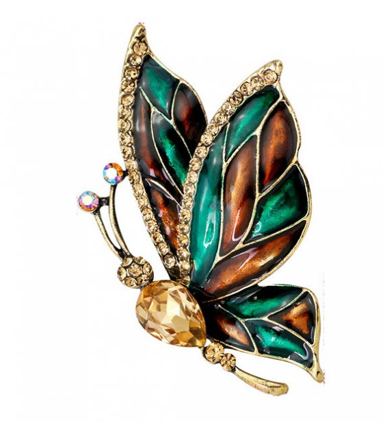 SB143 - Drop oil butterfly brooch