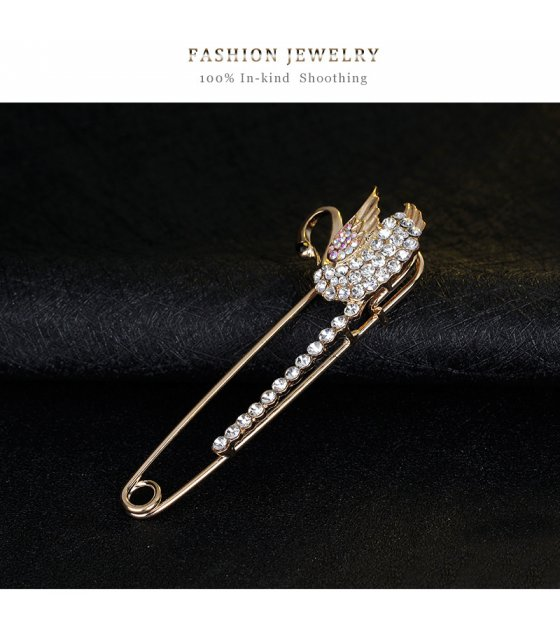 SB144 - Fashion curved needle brooch