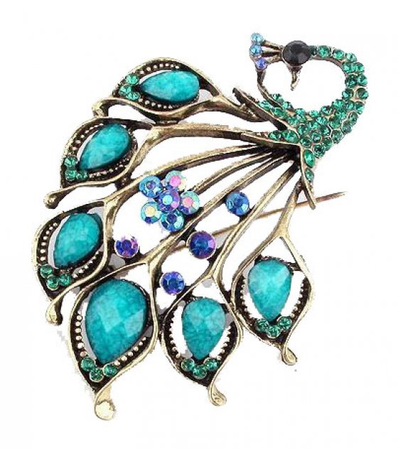 SB150 - Fashion peacock brooch