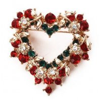 SB153 - Diamond Christmas Brooch