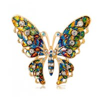 SB158 - Oil butterfly brooch