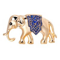 SB159 - Exotic style oil alloy elephant brooch