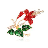 SB189 - Korean boutique rhinestone brooch