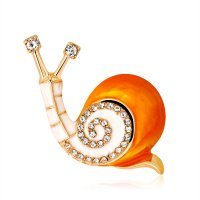 SB231 - Diamond Snail Brooch