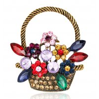 SB236 - Korean Retro Cute Flower Basket