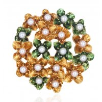 SB239 - Temperament dark flower Saree Brooch