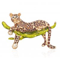 SB240 - Oil leopard Saree brooch