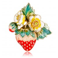 SB246 - Fruit strawberry brooch