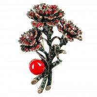SB250 - Hollow Christmas flowers Saree Brooch