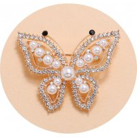 SB256 - Simple retro luxury exquisite pearl Brooch