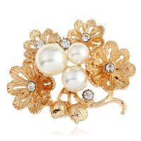 SB257 - Multilayer daisy brooch flower Saree Brooch