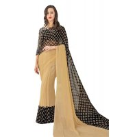 SJ008 - BLACK GEORGETTE SAREE