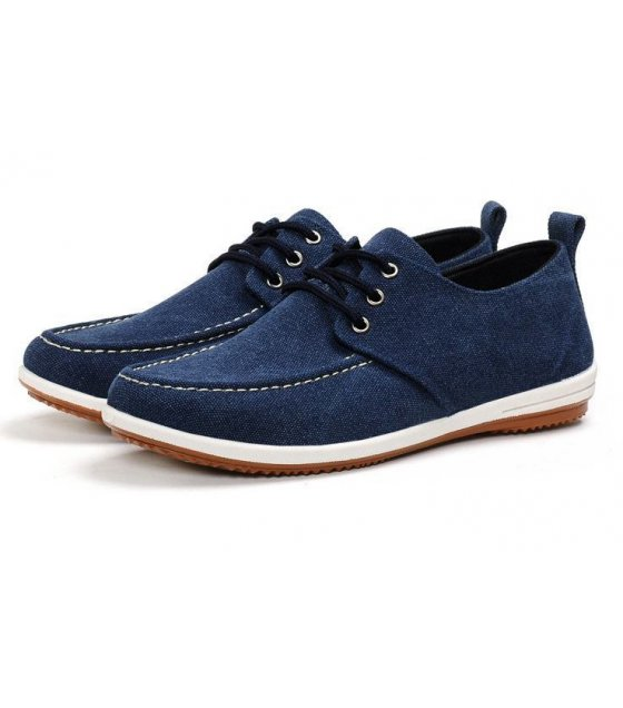 MS011-40Size - Blue Canvas Shoes
