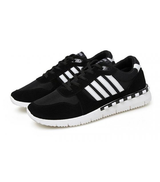 MS014-40Size - Black Striped Sports Shoes
