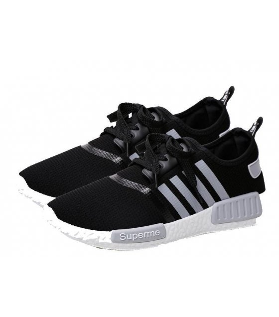 MS016-44Size - Black Striped Shoes