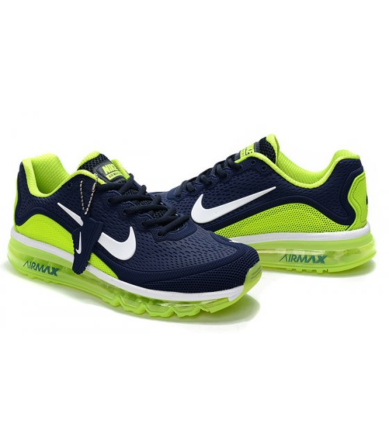 MS061 - Nike Air Max 2017.5 Navy Blue Green Men Shoes