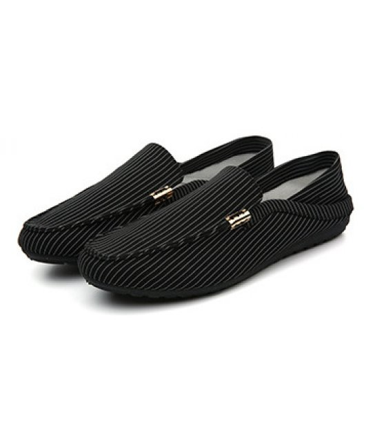 MS071 - Black Striped Shoe
