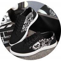 MS103 - Black Floral Shoes