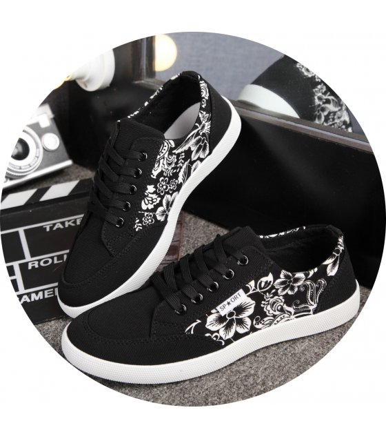MS103 - Black Floral Shoes