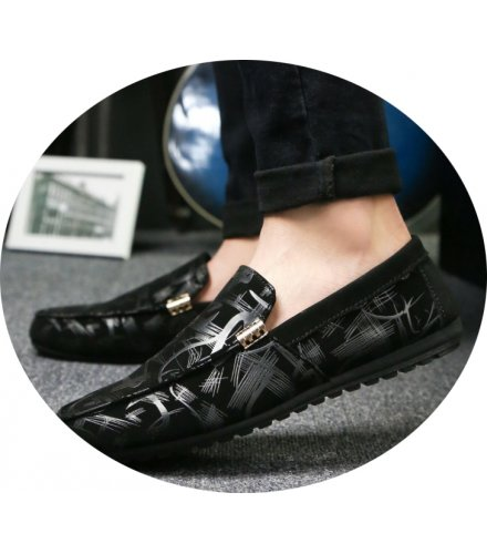 MS141 - Casual Black Pattern shoes
