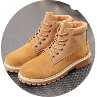 MS150 - Men Comfortable Canvas Suede High Top Boots
