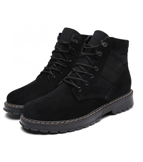 MS427 - Men's black military boots
