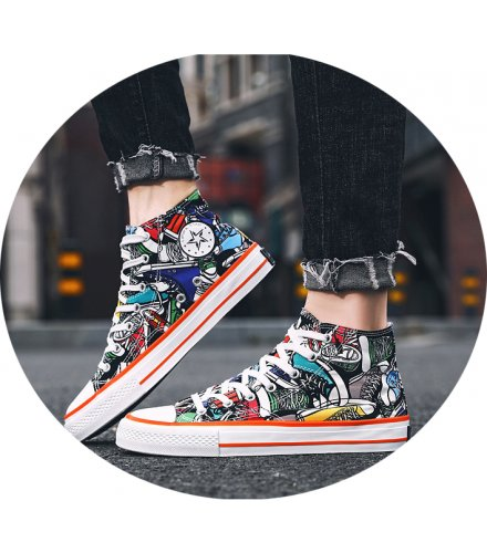 MS505 - High-top canvas shoes