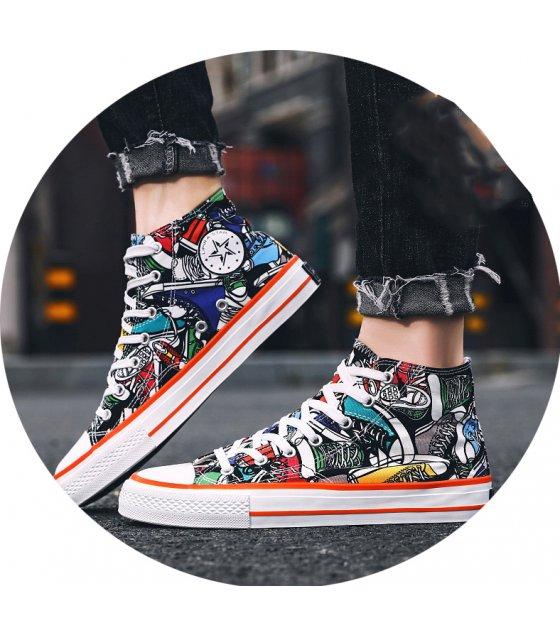 MS560 - Graffiti high-top canvas shoes