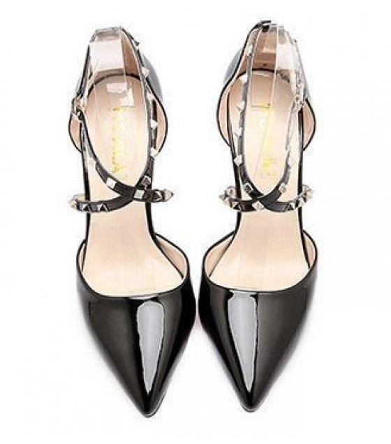 SH009-39Size- Black Pointed Shoes
