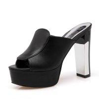 SH013 - High Heeled Elegant Black Shoes