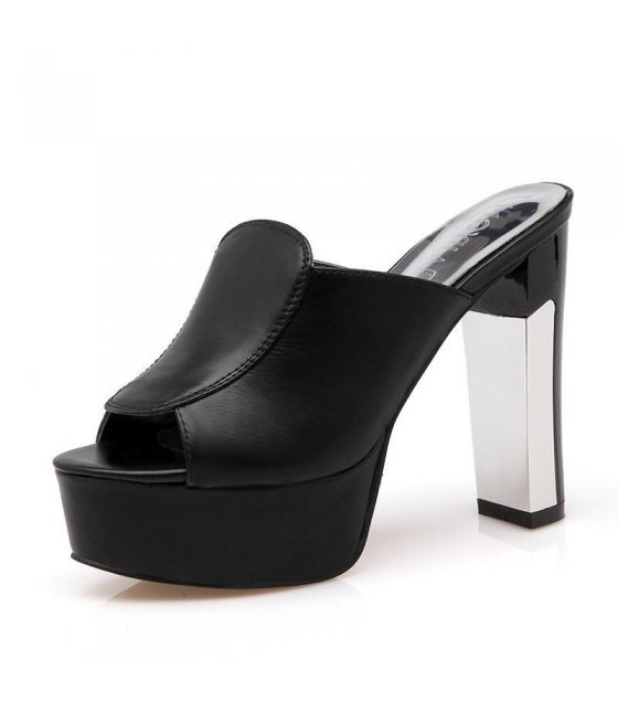 SH013-37Size - High Heeled Elegant Black Shoes