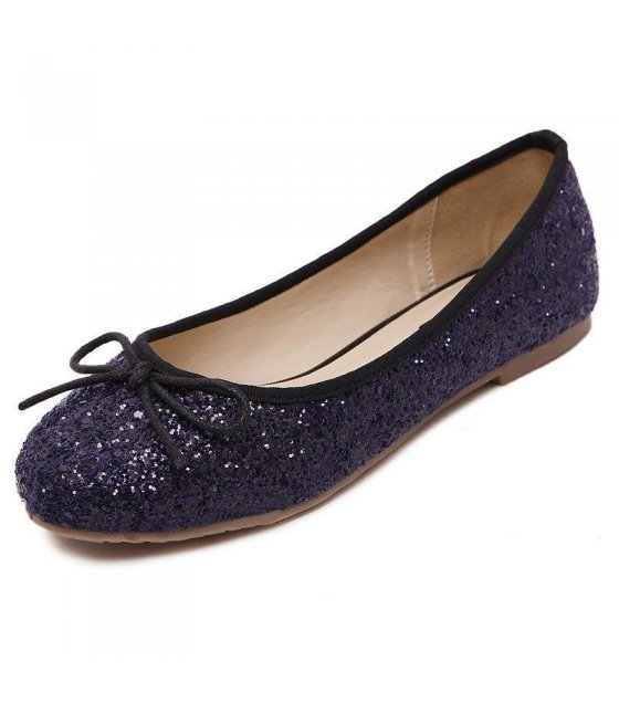 SH021 - Glittery Bow Flat Shoes