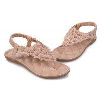 SH041 - Cream Floral Sandals
