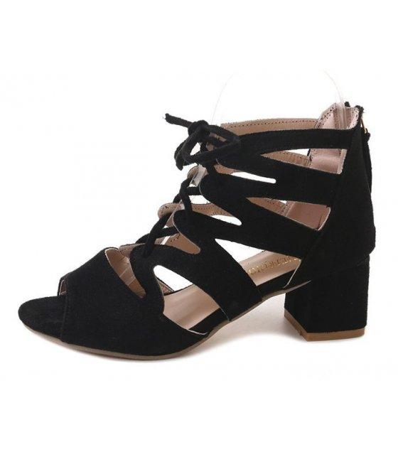 SH050 - Simple Open Toe Ankle Strap Heels