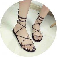 SH063 - Flat cross straps shoes