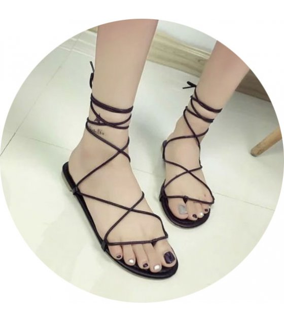 SH063 - Flat cross straps shoes
