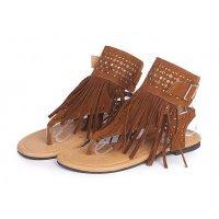 SH068 - Tassels open toe rhinestone flip flops