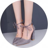 SH097 - Korean Suede High Heels Women's Shoes