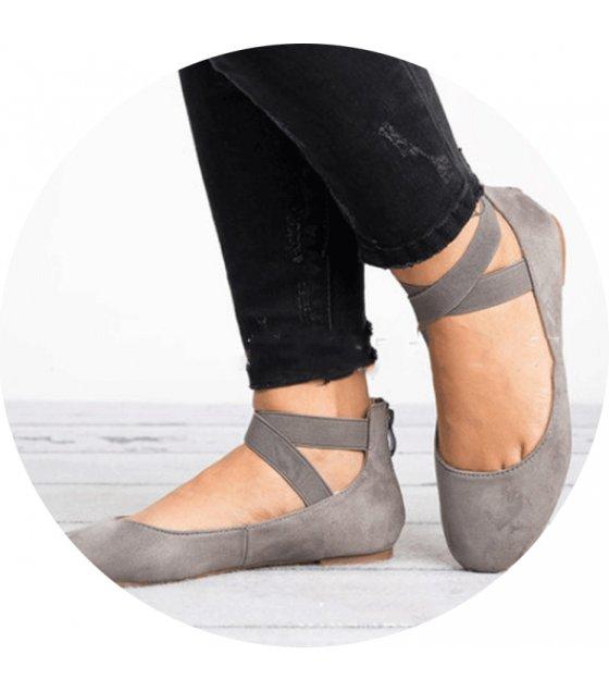 SH102 - Autumn round head women's flat shoes
