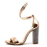 SH107 - Gold rhinestone high heel sandals