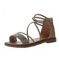 SH108 - Rhinestone flat roman shoes