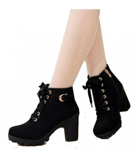 SH116 - High heel thick casual women's boots
