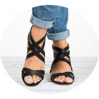 SH122 - Cross strap sandals women