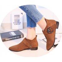 SH123 - Back zipper belt buckle women boots