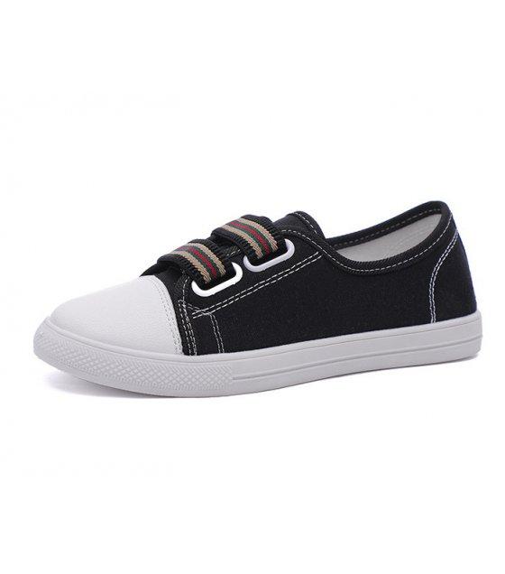 SH133 - White flat fashion casual Shoes