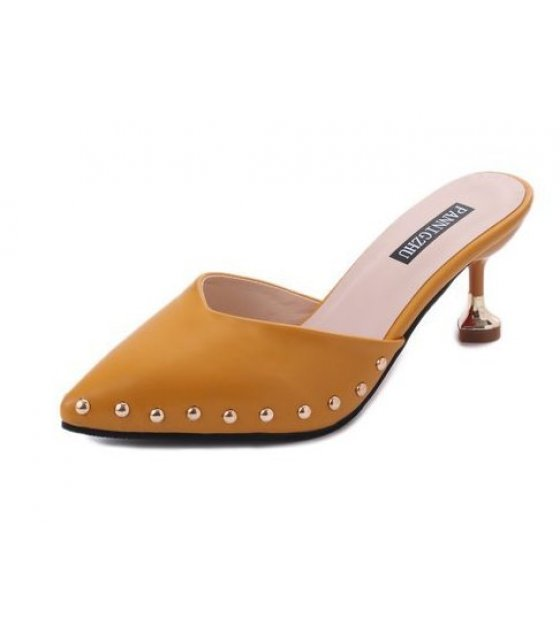 SH144 - Thin heel pointed Rivet Sandals