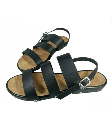 SH163 - Buckle Triple Strap Slide Sandals