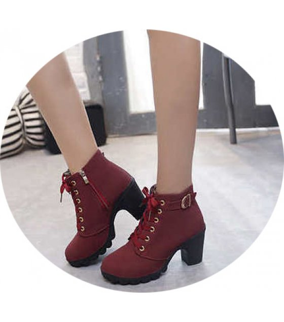 SH171 - Thick heel casual women's boots