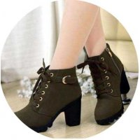 SH192 - High heel thick heel casual women's boots